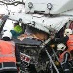 Vrachtwagen ongeluk met schade
