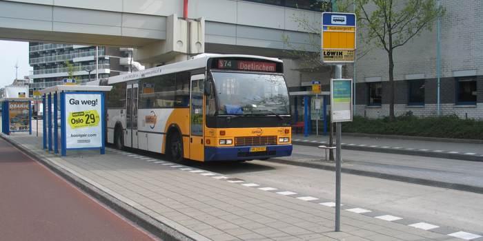 gevallen in bus en schade