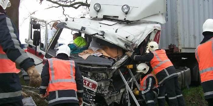Ongeval met vrachtwagen