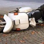 Aanrijding met een scooter en schade
